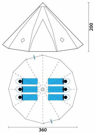 Палатка Skandika Tipii 200