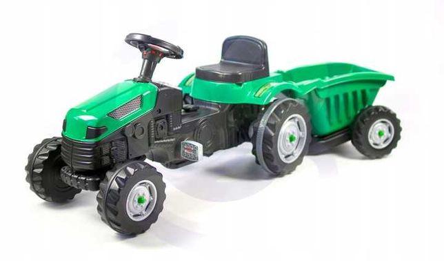 Детский трактор на педалях с прицепом WOOPIE MAX