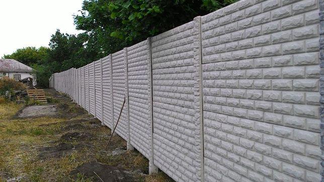 Глянцева бетонна огорожа,євро-забор,ворота
