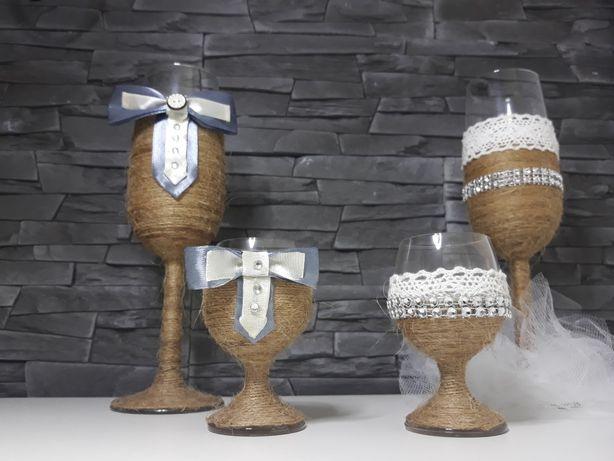 Kieliszki weselne