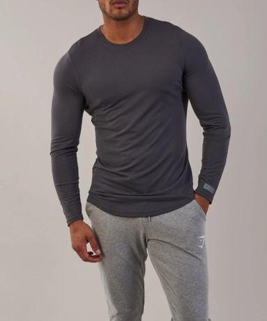 Gymshark longsleeve męski perforated ls t-shirt r. M nowy