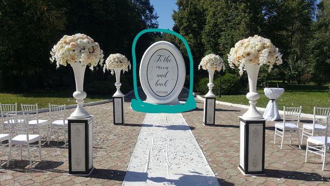 Свадебная арка рама Диор Dior из пенопласта и фанеры фотозона