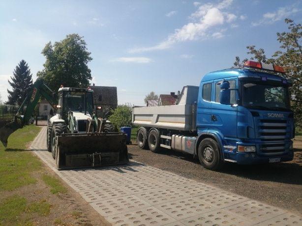 Usługi koparko - ładowarką, transport: piasek, montaż oczyszczalni!