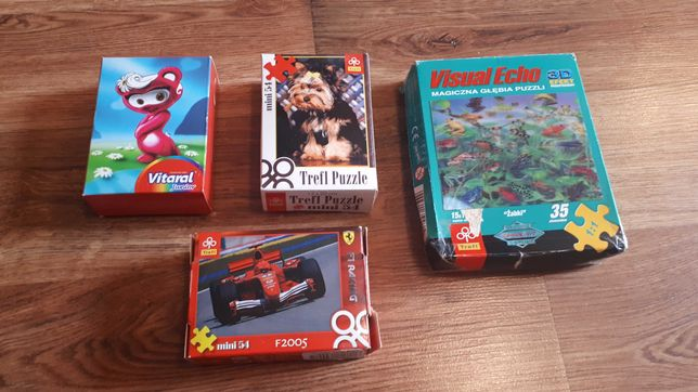 Mini puzzle, cztery zestawy, Trefl