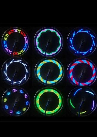 Графическая лёд подсветка для спиц колес