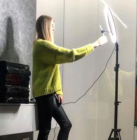 Led лампа, штатив кольцевая лампа освещение свет лед  блогера селфі