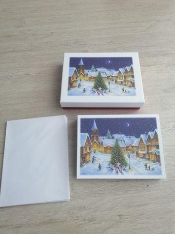 Kartki na Boże Narodzenie pocztówki z kopertami
