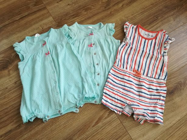 Rampersy dziewczęce 10sztuk  rozmiar 68-74-80