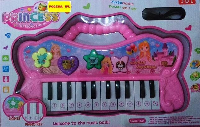 Pianinko PRINCESS na baterie z melodiami i oświetleniem.