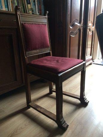 Holenderskie krzesła stylowe drewniane tapicerowane, antyki, 4 sztuki