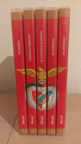 5 DVDS do S.L.Benfica + 1 DVD Eusébio