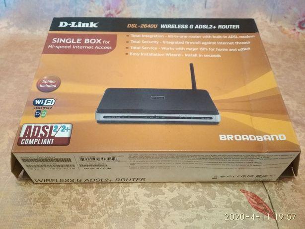 модем Wi-Fi роутер (Безпровідний маршрутизатор ) D-Link DSL-2640U