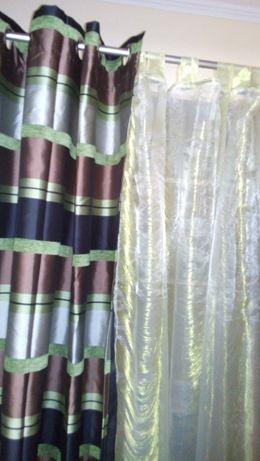 Три гардины+две шторы 7мх2,45м Polyester за 1999грн.