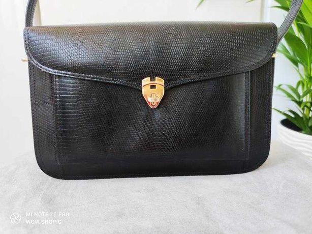 кожаная сумка багет