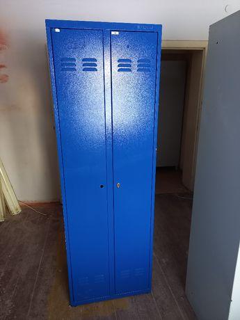 Szafka metalowa niebieska