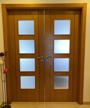 URGENTE! Portas interior em madeira e vidro para sala
