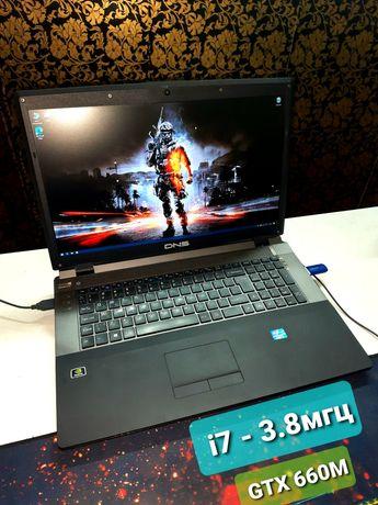 Отличный игровой ноутбук 17 fulhd i7/GTX 660 2gb/1000 gb/ GAMEРАКЕТА