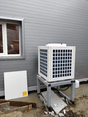 Недорогой тепловой насос воздух-вода Clitech (дешевое отопление и ГВС)
