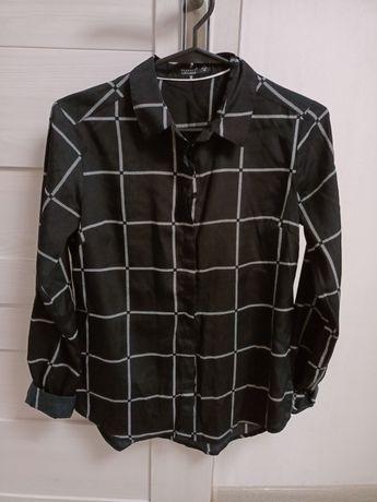 Koszula czarna w białą kratę