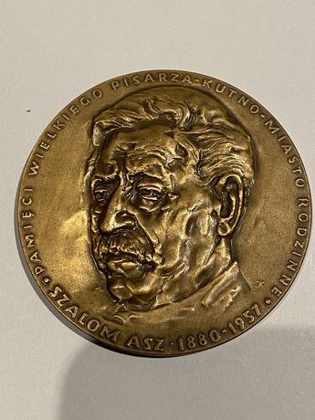 Medal Szalom Asz- Pisarz 1987. Mennica Państwowa