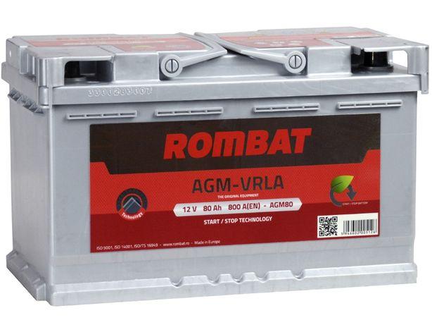 Akumulator Rombat AGM 80 AH / 800 A