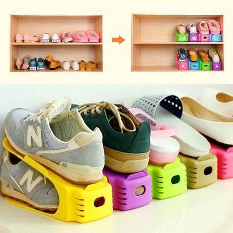 Новая Стойка двойная под обувь ShoeRacks (комплект 4 шт.)