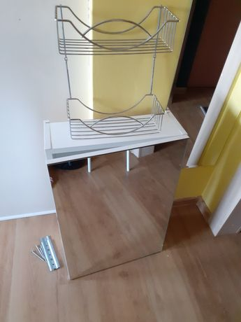 Szafka łazienkowa i półka