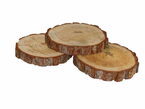 Bolachas, fatias,bases, rodelas rústicas de tora de madeira, tronco.