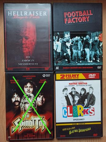 Filmy dvd po polsku Football Factory Hellraiser Clerks KlątwaSkorpiona