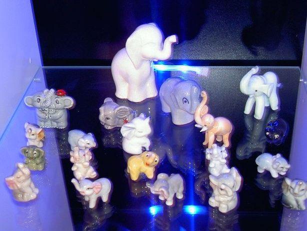 Słoniki z porcelany