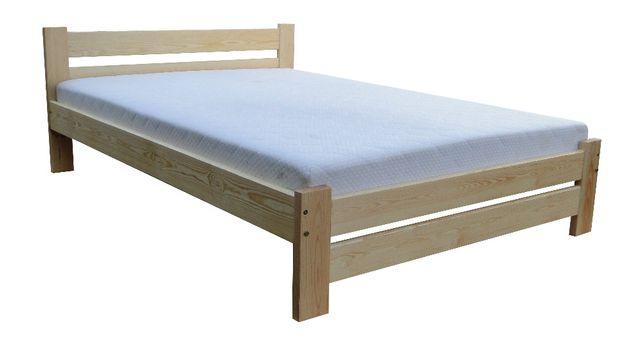 łóżko sosnowe mega mocne z oparciem TRENTINO 80x200