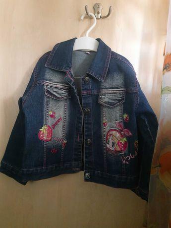 Джинсовый пиджак на 2 годика