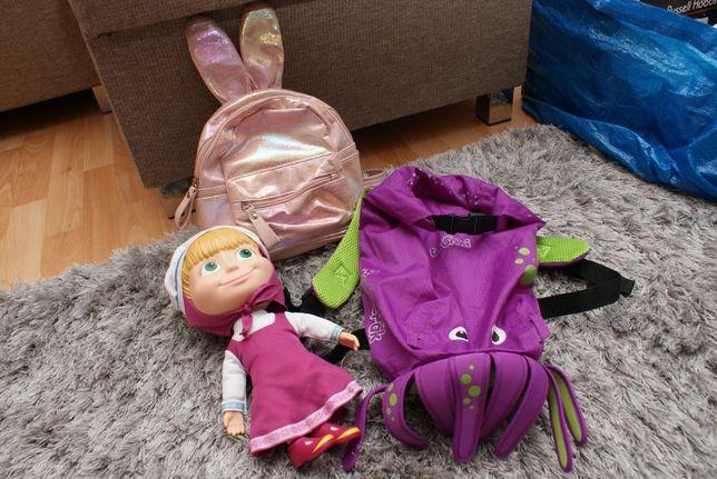 Plecak Trunki plus brokatowy z uszami plus Masza doktorka