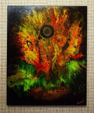 Продам картину в стиле Флюид Арт