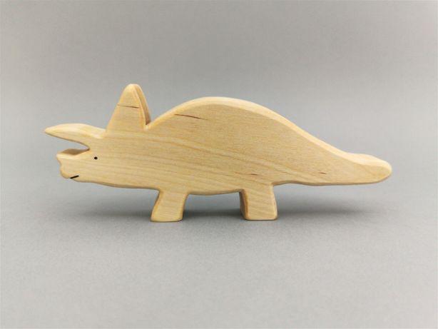 Drewniane dinozaury - figurka Triceratops