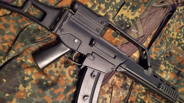 Zestaw ASG stalker Czarnobyl  - replika HK G36 + strój + dodatki