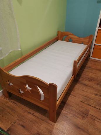 Łóżeczko drewniane 185x87