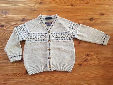 Sweterek rozpinany Coccodrillo 80 cm elegancki