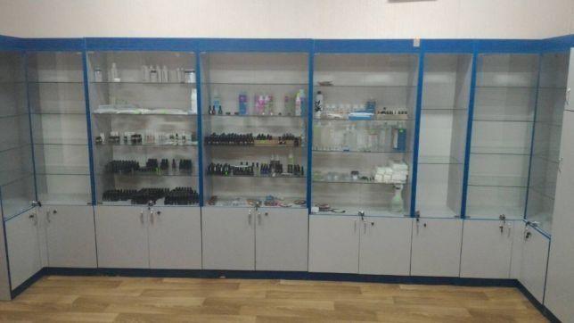 Шкаф,витринеа, прилавок ,дсп, стекло ,ТОрговое оборудование