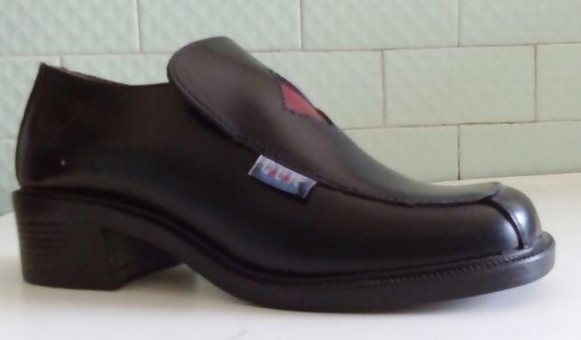 Nº37 Sapato CALAFE Preto Às Ouros Cabedal Novo Com Caixa