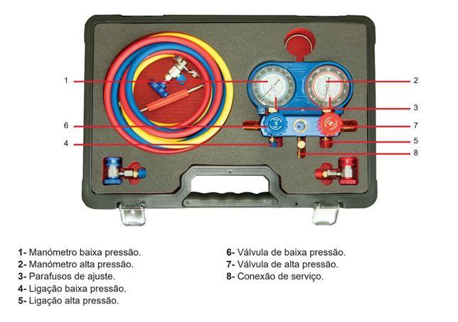Manómetro para Ar Condicionado NOVO