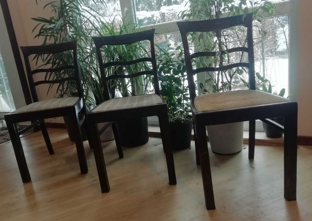 3 krzesła art deco