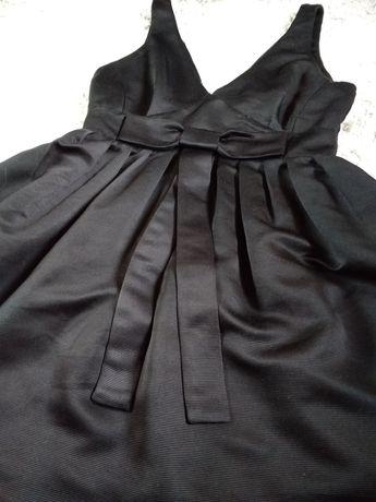 Sukienka mini mała czarna z kokardą babydoll Warehouse 36 38 wesele