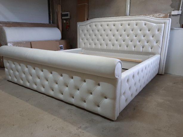Łóżko sypialniane, tapicerowane LARELLA - pikowane, eleganckie,piękne