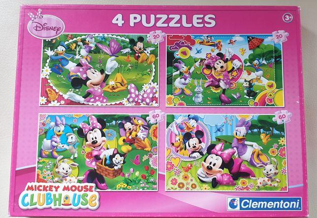 Puzle Clementoni 4w1 Mickey Mouse, wiek 3+