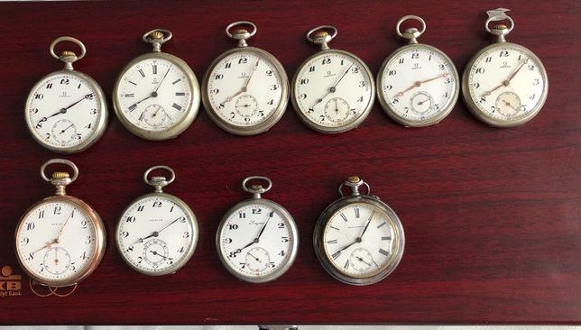 Sprzedam zegarki kieszonkowe,Omega,Zenith,Longines-kolekcja-10 szt