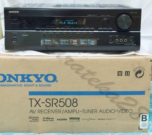 Onkyo TX-SR508 Technics SB-AFC250. Amplituner - stan niemal sklepowy !
