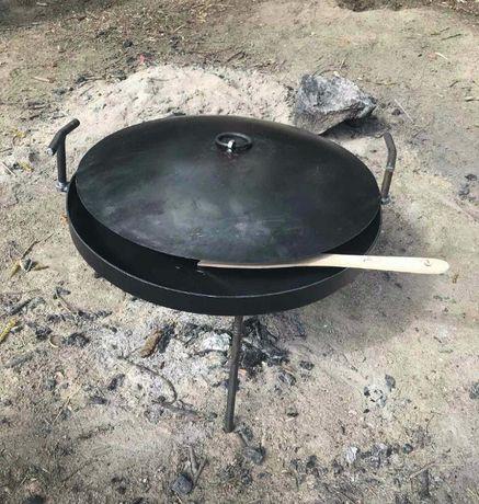 Сковорідка 50см для відпочинку на природі +кришка