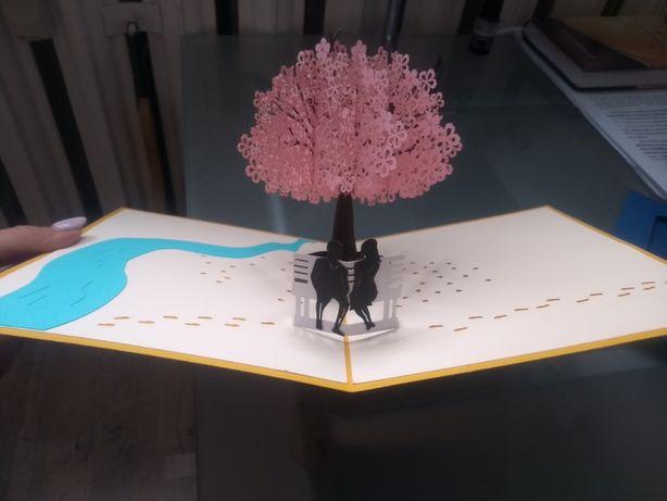 Kartka okolicznościowa 3D wesele ślub