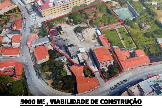 Terreno 5000m2 c/ Palacete (4 Frentes) em V.N.Gaia
